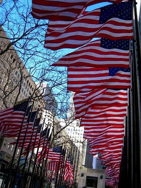 Flags @ Rockefeller Center.