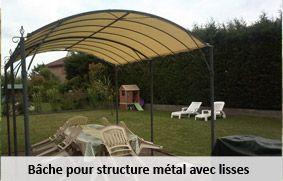 Bache pour structure métal avec lisse