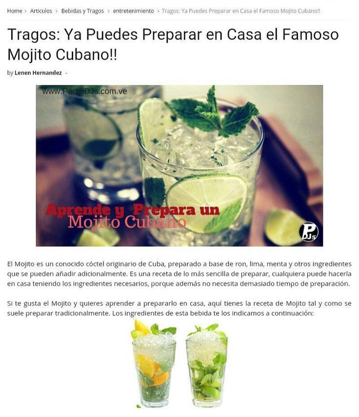 Todavía no sabes preparar un #MojitoCubano ? Pues aquí en @PortalDeDjsOficial te traemos este articulo sobre el Mojito una bebida que nunca pasa de moda!! #SoloParaRumberos  #tragos  Puedes leer el articulo en nuestra web: www.PortalDJs.com.ve   el link esta en nuestra BIO  #PortalDeDJs #FelizJueves #Like #sanjuandelosmorros #sansebastiandelosreyes #unerg #discotecas #bar #bebidas #mojitos #caña #rumba