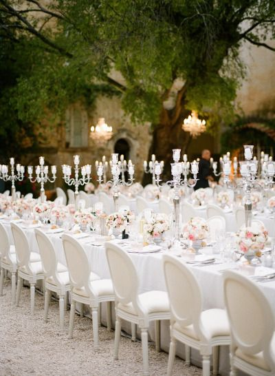A French fairytale: http://www.stylemepretty.com/destination-weddings/2015/01/05/black-tie-french-chateau-wedding/ | Photography: Brosnan Photographic - http://www.brosnanphotographic.com/