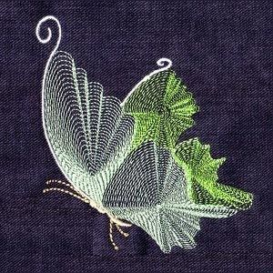 Free Embroidery Design: Butterfly Threads