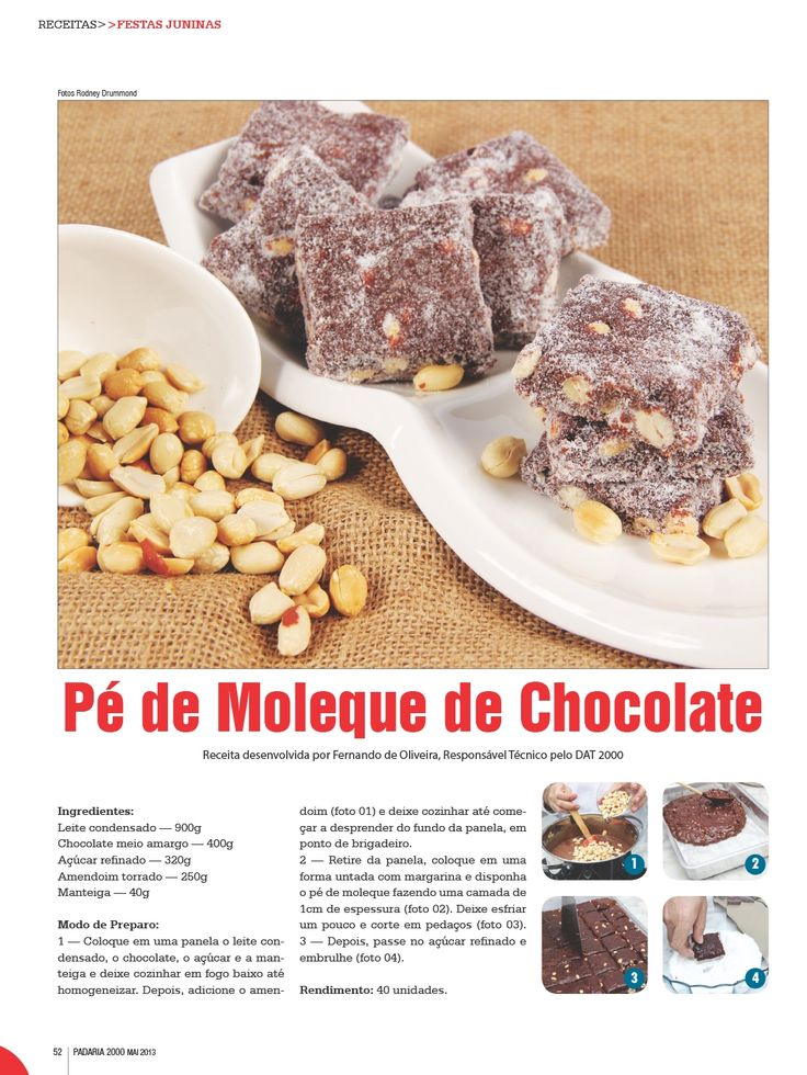 Pe de moleque de chocolate