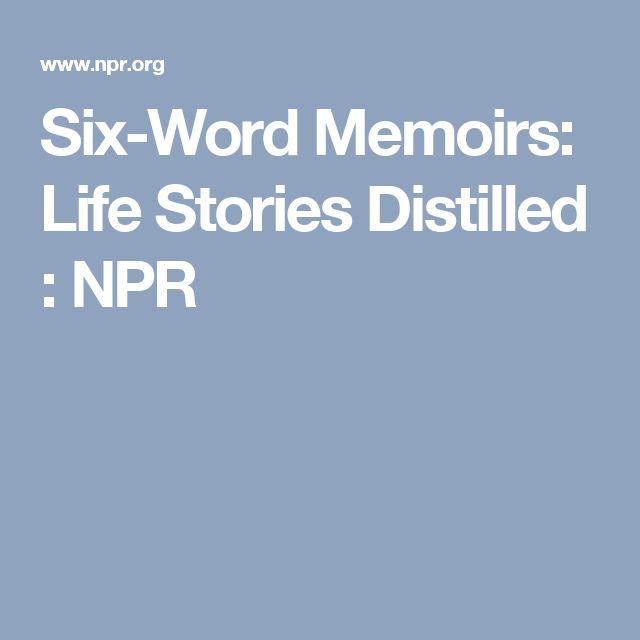 Funny 6 Word Memoirs