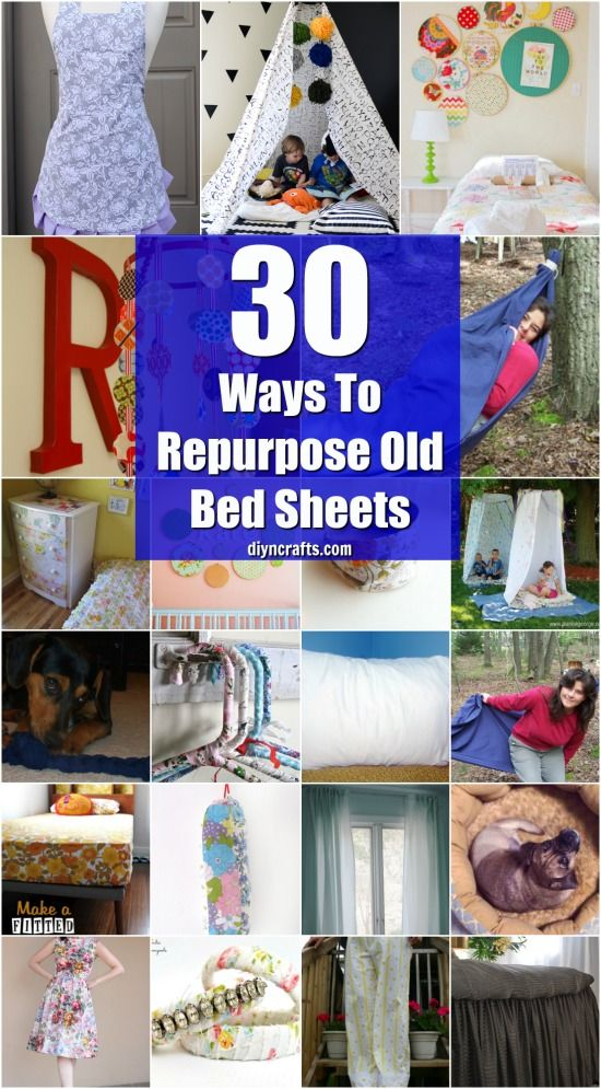 30 Creative And Crafty Ways To Repurpose Old Bed Sheets {With Tutorial Links by DIYnCrafts Team}
