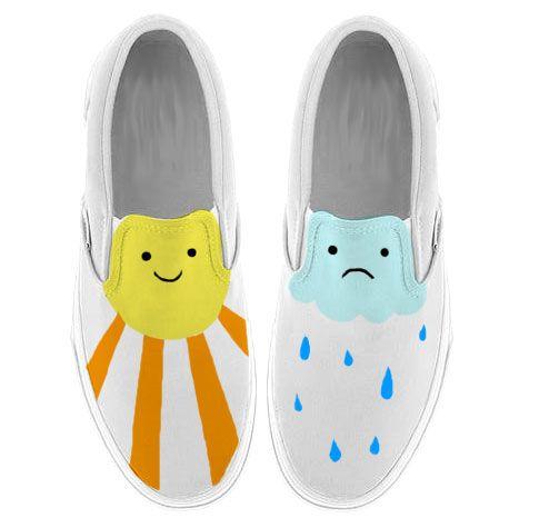 Sunny day, rainy day slip on shoes.
