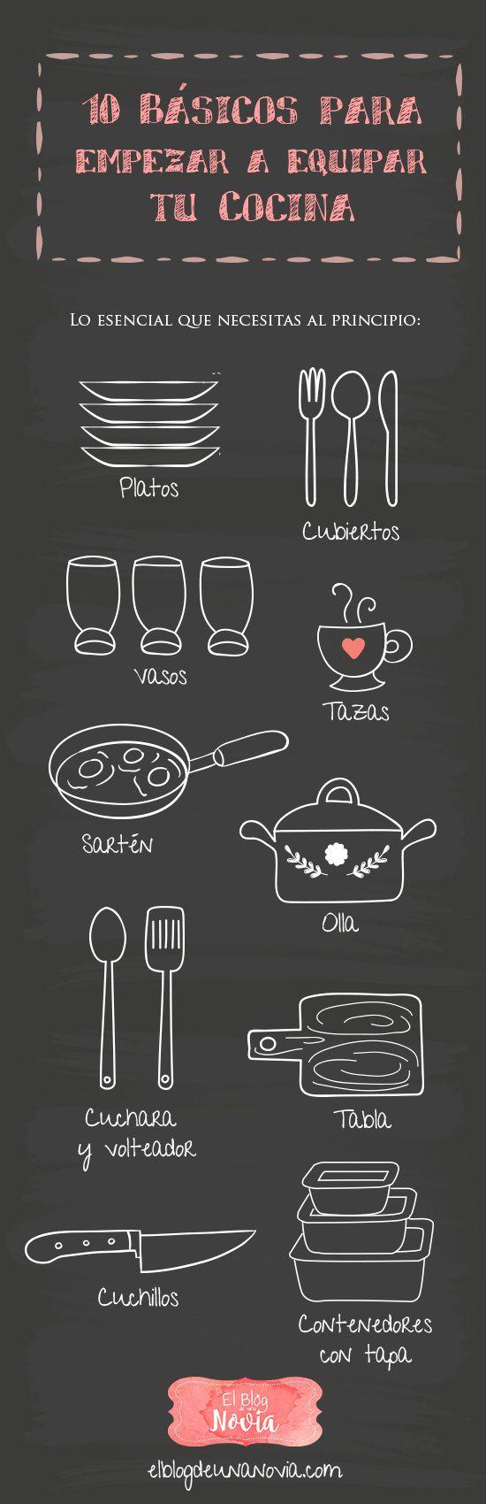 10 Utensilios básicos para empezar a equipar la cocina de los futuros esposos | El Blog de una Novia | #novios #esposos #cocina