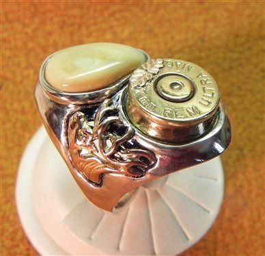 Elk Ivory Spent Cartridge, Trophy Ring - Media - Jewelry Making Daily