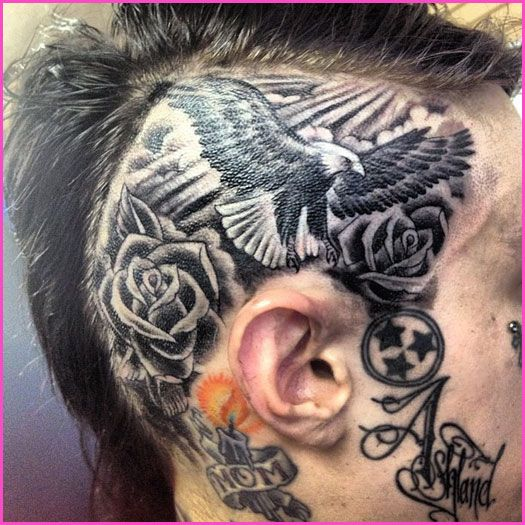 Trace Cyrus Completes His Head Tattoo!
