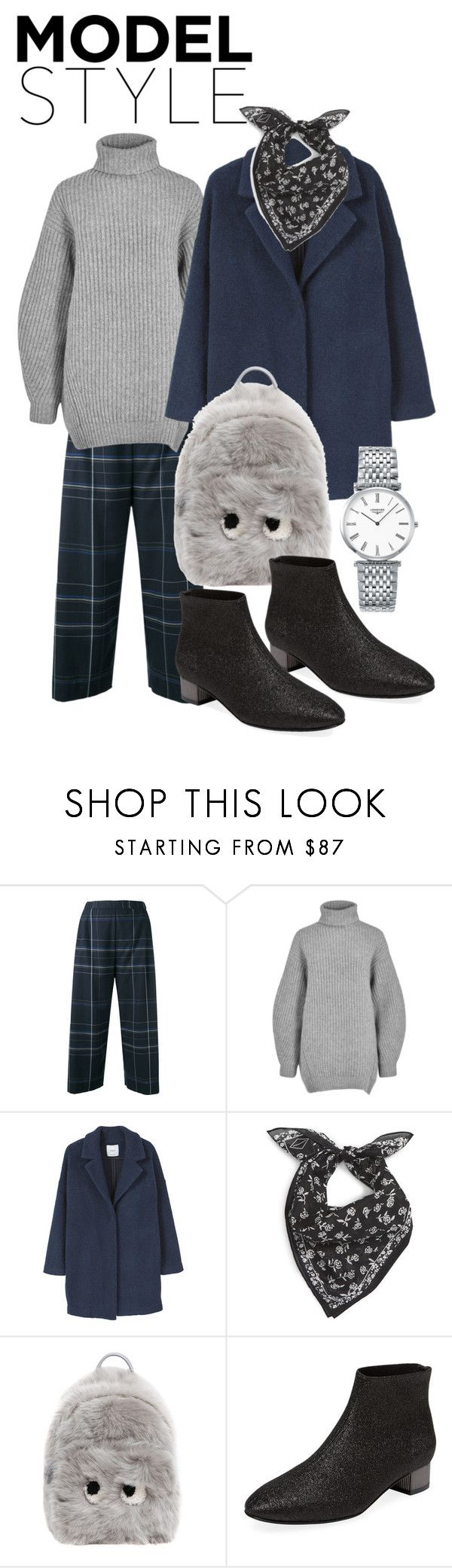 """MODEL STYLE-925"" by ckuz ❤ liked on Polyvore featuring Stephan Schneider, Acne Studios, MANGO, rag & bone, Anya Hindmarch, Robert Clergerie and Longines"