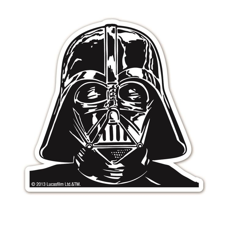 Darth Vader Magnet.  Die cut, shaped magnets to decorate your fridge, locker, notice board, wherever you fancy.  Size: 8cm x 7.5cm