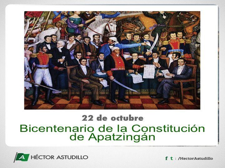 El 22 de octubre celebramos el Bicentenario de la Constitución de Apatzingán, que tiene sus bases en el Primer Congreso de Anáhuac y los Sentimientos de la Nación.