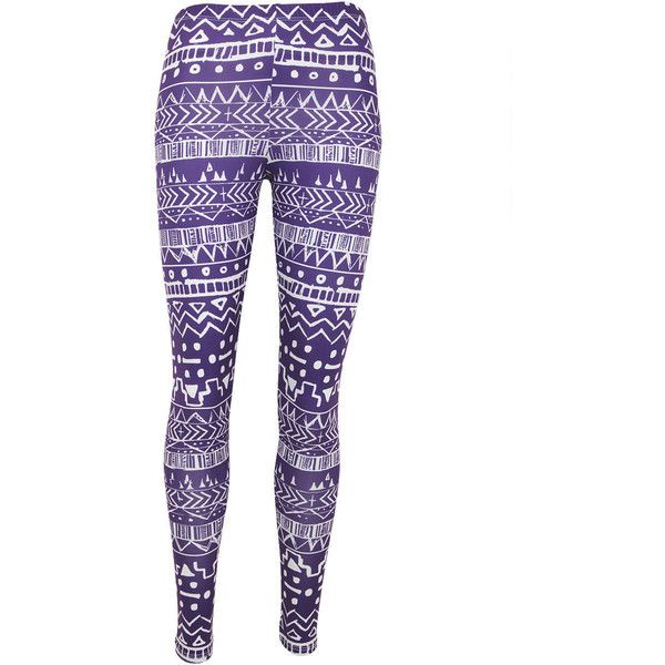 Aztec Leggings (26 CAD) ❤ liked on Polyvore featuring pants, leggings, bottoms, jeans, sweatpants & leggings, stretchy leggings, stretch leggings, purple leggings, aztec-print leggings and checkered pants