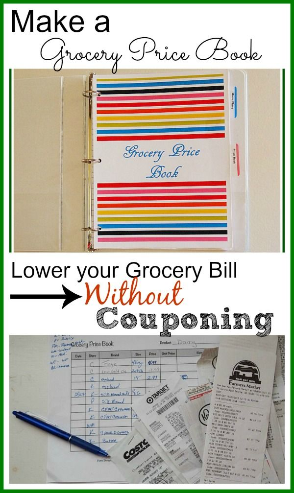 Save on groceries without couponing! This may be old school but it really works! You have to know your grocery store prices to know whether a deal is really a deal. Lower your grocery bill without even using coupons using this technique.Learn how to make a price book! Money saving ideas| frugal living tips| being thrifty | living on a budget