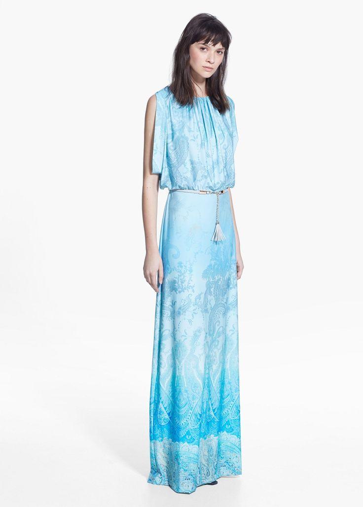 Dlouhé šaty s potiskem - Šaty for Žena   MANGO