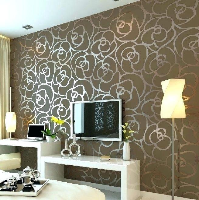 Wall Texture Designs Bedroom Wall Texture Luxury Flocking Textured