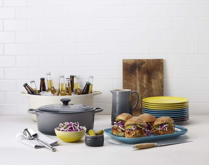 Cast Iron & Tabletop and dinnerware