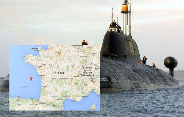 Un sous-marin nucléaire russe repéré dans le Golfe de Gascogne