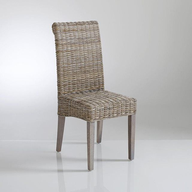 trendy chaise haut dossier en kubu tress lot de lunja la. Black Bedroom Furniture Sets. Home Design Ideas