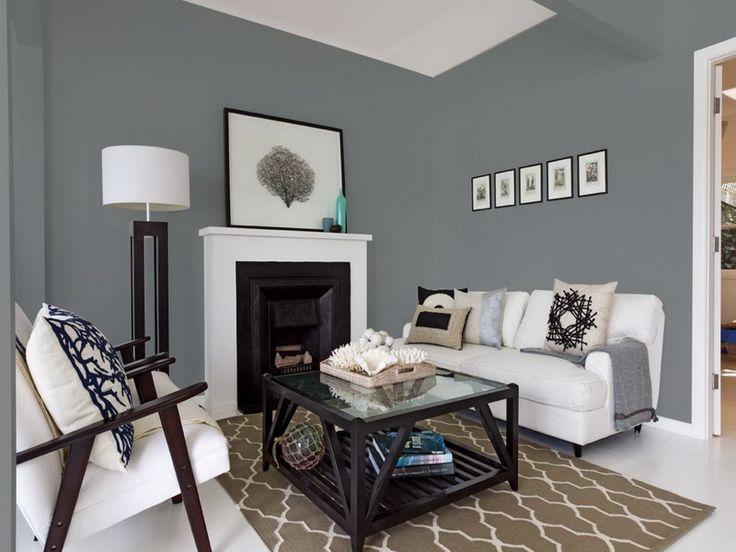 Interior Neutral Paint Colors  Grey walls living room, Grey paint living room, Gray living room