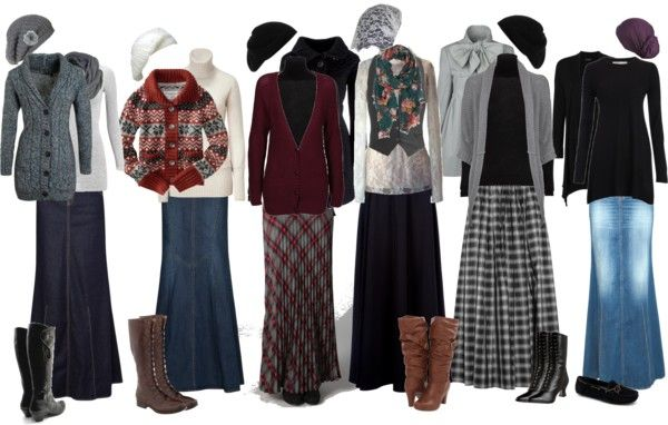 Winter outfits by christianmodesty liked on polyvore warm and cozy choices here fashion Fashion solitaire winter style