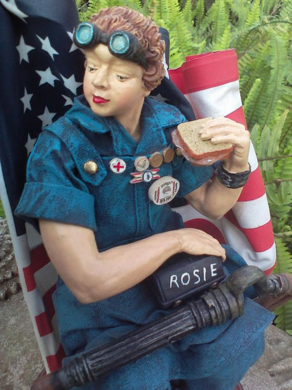 Rosie Riveter Norman Rockwell Rosie Statue Figurine