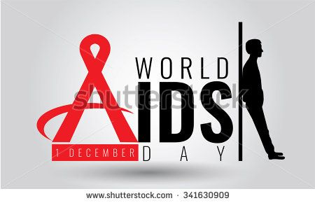 AIDS - vector. Stop AIDS sign symbol. AIDS red ribbon. AIDS logo World AIDS day - 1 December. HIV & STI.