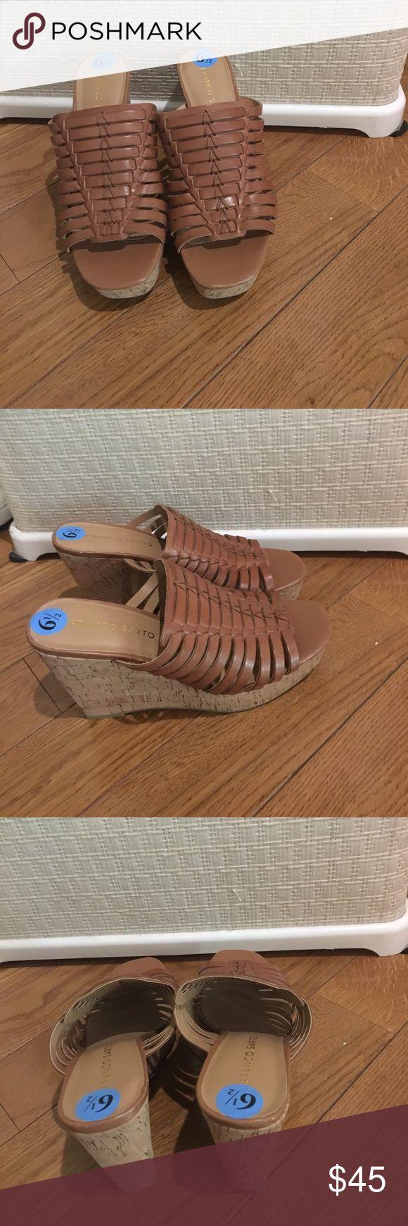 NWOT franco sarto brown wedges NWOT franco sarto brown wedges Franco Sarto Shoes Wedges