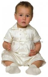 A3131 Rupert Little Darlings Ivory Silk Christening Romper