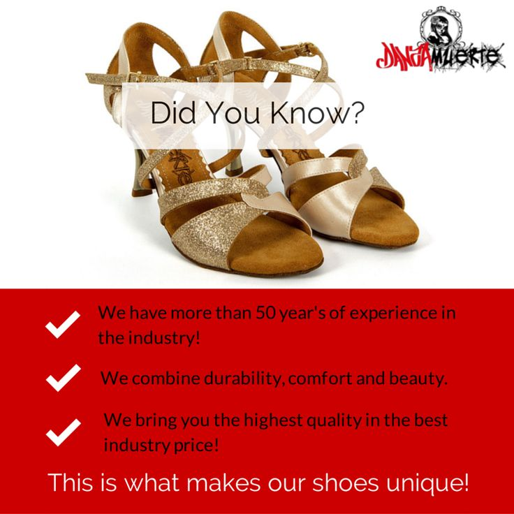 3 Things you didn't know about #danza_muerte_shoes https://www.facebook.com/DanzaMuerteShoes