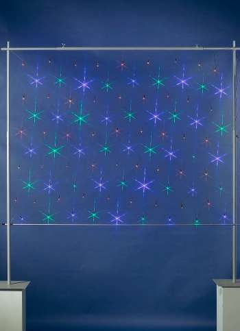 LED-Netzlicht für außen 100x200 cm (L/B), 90 Birnchen, 24V/2.4VA.