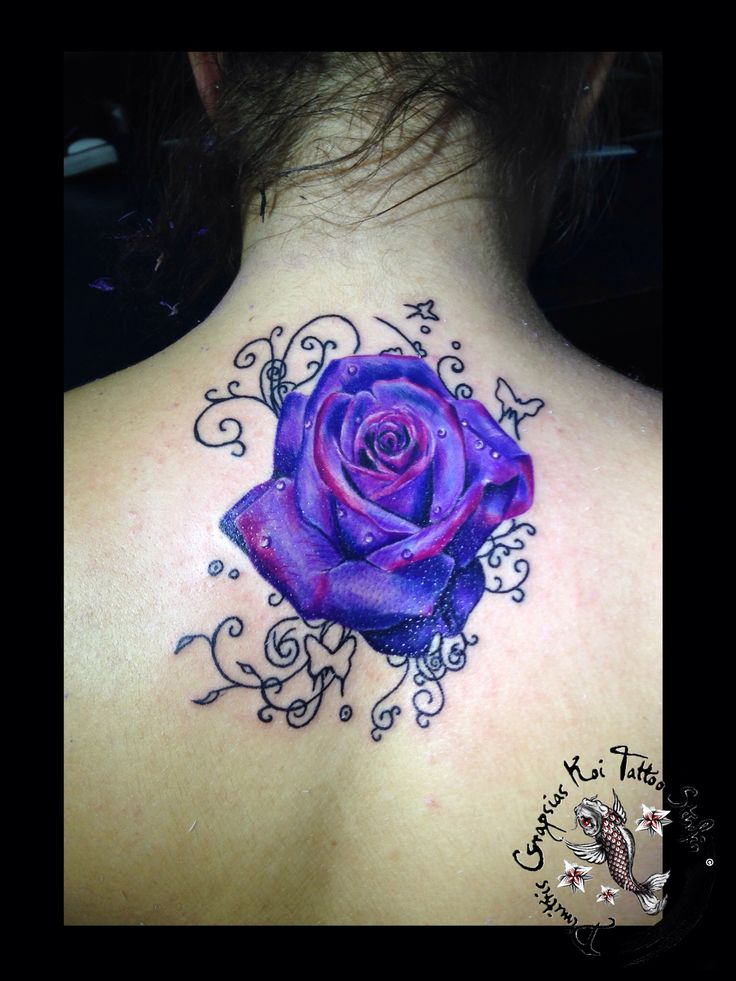 purple rose by dimitris grapsias koi tattoo rose tattoo. Black Bedroom Furniture Sets. Home Design Ideas