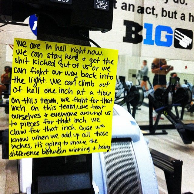 *Disclaimer: curse words* I don't know about you, but I don't have the mental capacity to read all of that during an erg test of any length.
