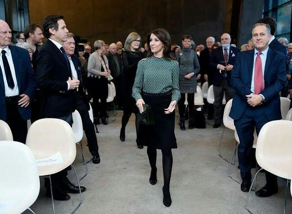 Princess Marie of Denmark attends the opening of the art exhibition 'Pissarro' at Ordrupgaard Art Museum on March 9, 2017 in Charlottenlund, Denmark. Camille Pissarro was a Danish-French Impressionist and Neo-Impressionist painter born on the island of St Thomas (Danish West Indies).