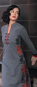 ladies suit designs with piping - Google Search