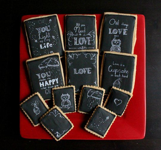 Two for One! Turn Your Cookies Into Holiday Cards | The Kitchn: Christmas Cards, Chalkboards Cookies, Art Inspiration Cookies, Holidays Cookies, Cards Cookies, Chalk Cookies, Holidays Cards, Cookies Cards, Chalkboards Art Inspiration