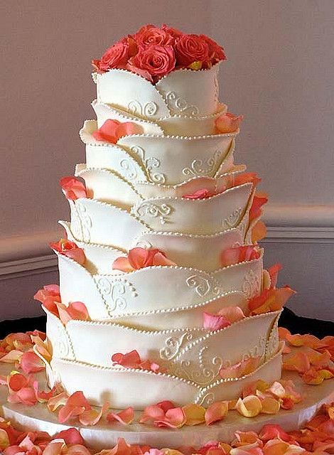 rose petals & white chocolate cake