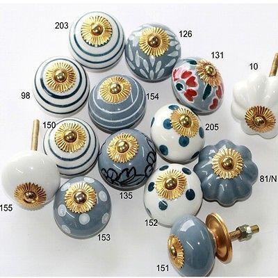 Bouton de meuble,boutons meuble en céramique,Möbelknäufe Pigeon bleu gris 2.Wahl   eBay