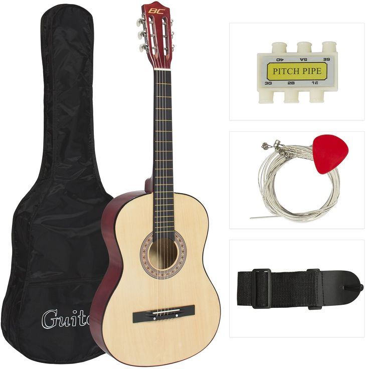 Best Choice Products Natural Acoustic Guitar with Best Choice Products