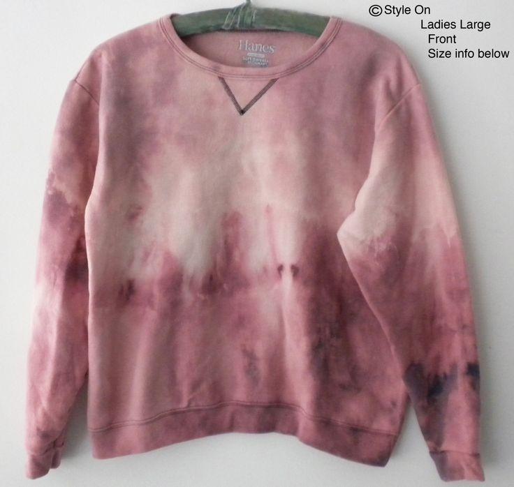 Women Sweatshirt - Women's sweatshirts,  tie dye Sweatshirt - Pink sweatshirt - sweater, ombre crew neck, dip dye sweatshirt, Gift for Her by Styleon on Etsy