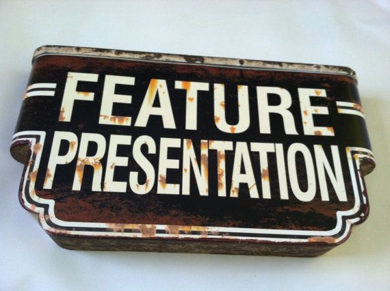 Vintage Style Theatre Sign Movie Room Wall Hanging Poster Retro