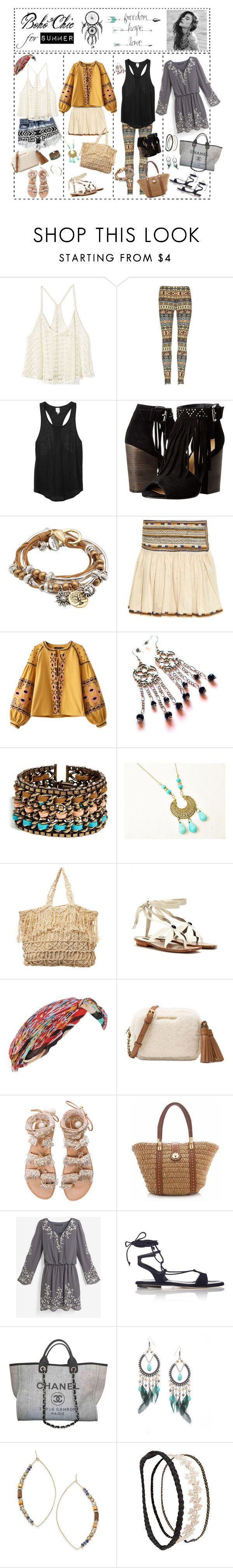 """""""Boho sets for summer girls"""" by phuong-anh-tran-1 ❤ liked on Polyvore featuring Victoria's Secret, Monki, Chinese Laundry, Lizzy James, Isabel Marant, Chicnova Fashion, DANNIJO, Marc Jacobs, Forever 21 and Michael Kors"""