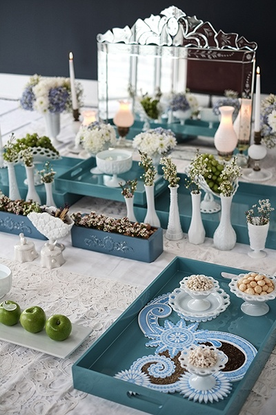 Ocean Burst - Sofreh Aghd Design by Bits and Blooms Inc.