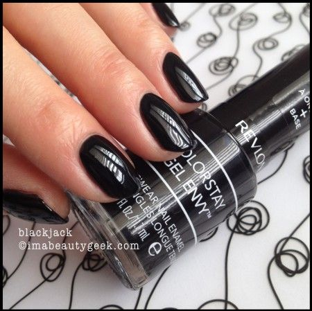 Revlon Gel Envy Blackjack. There's WAY more Gel Envy swatches (and a review) on clickthru to imabeautygeek.com