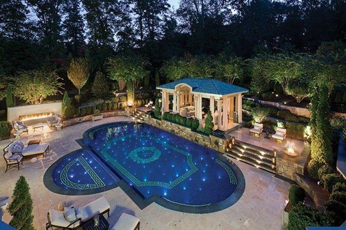 luxus pool ganz gute idee für einen luxus pool im kleinen garten,
