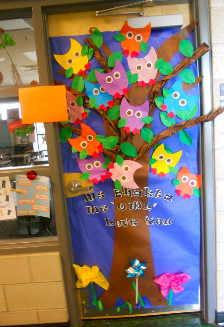 Owl Themed Classroom Decorations ~ Quot we owl love you door decoration for teacher appreciation