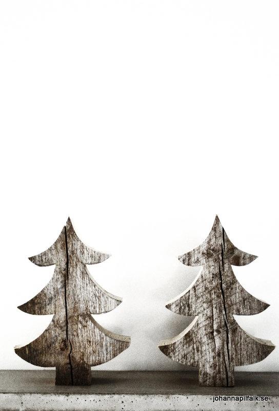 Idea for making reclaimed wood Christmas trees        Inger Johanna: Favoritgranar