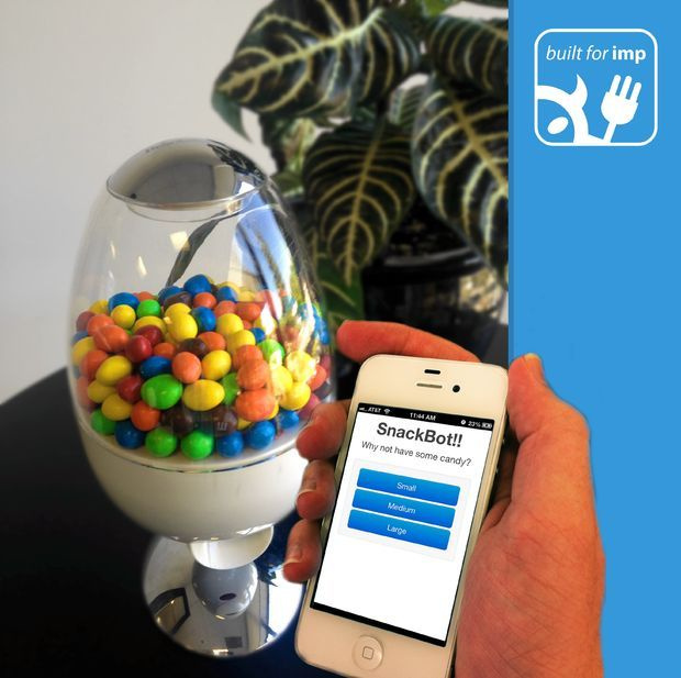 Picture of SnackBot: The Internet Connected Candy Machine!