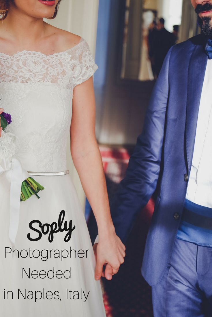 #Photographer needed for a #wedding in #Naples #Italy on May 13th. See the #photography job and apply by clicking the pin!