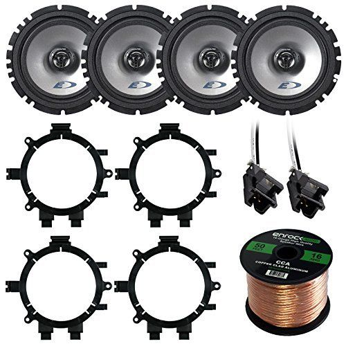 "Car Speaker Package Of 4X Alpine SXE-1725S 6.5"" Inch 440-Watt 2-Way Coaxial Car Speakers Bundle Combo With Full Size Speaker Adaptors And Wiring Harness + 50Ft Wire For 1995-2009 GM Vehicles. PACKAGE BUNDLE KIT INCLUDES: Total of 4 Speakers = 2 Sets (Total of 4) of Alpine SXE-1725S 6.5 Stereo Coaxial Car Audio Factory Upgrade Speakers = 1 Metra 82-3002 GM Full Size P/U SUV Speaker Adaptors = 1 Metra 72-4568 Speaker Harness = 1 Enrock 50 F. AUTO SPEAKERS: Alpine Electronics has produced…"