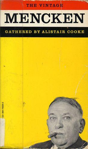 "Book cover. ""The Vintage Mencken"" (photo by A. Aubrey Bodine)"